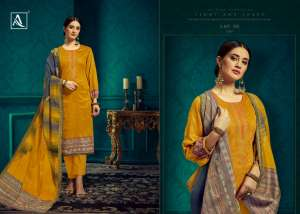 1195 ALOK SUIT BY IHANA EMBROIDER COLLECTION 407001 TO 407008 SERIES