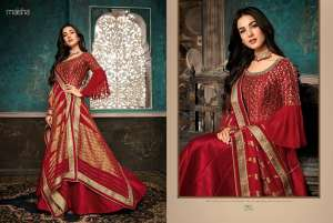 1200 MAISHA MASKEEN BY SAZIA SARARA & GOWN COLLECTION 7401 TO 7407 SERIES
