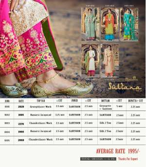 1241 MAISHA BY SULTANA VOL - 2 SALWAR SUIT COLLECTION 8101 TO 8105 SERIES