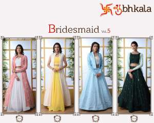 1488 BRIDEMAID VOL - 5 INDO WESTERN GOWN LEHENGA COLLECTION